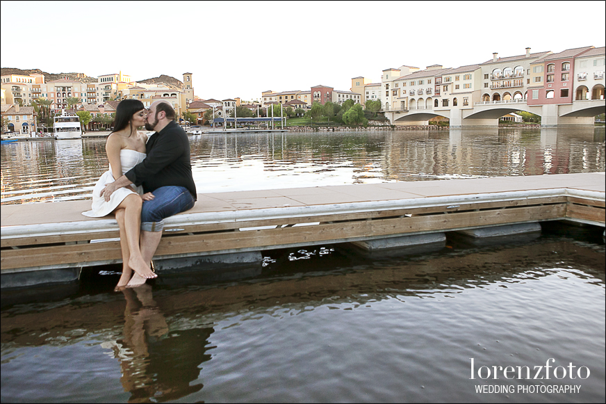 A kiss on a Lake Las Vegas dock